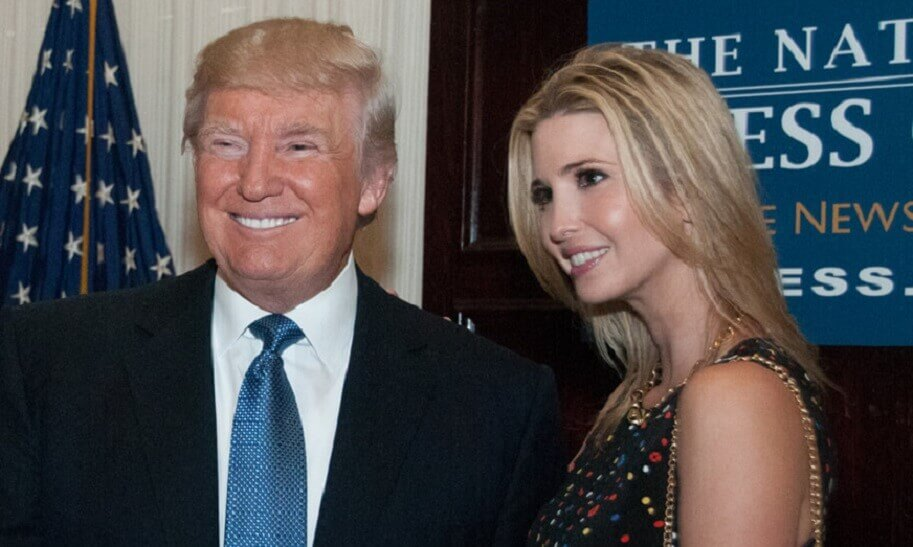 Donald Trump with daughter Ivanka