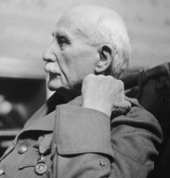 Petain at his trial.