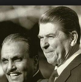 Al-Haq (L) and Reagan (R)