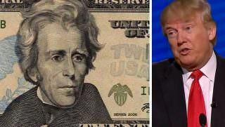 trump and $20 bill