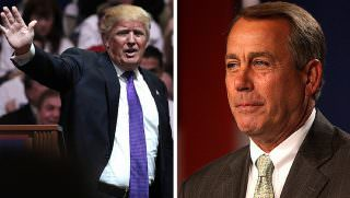 trump and boehner