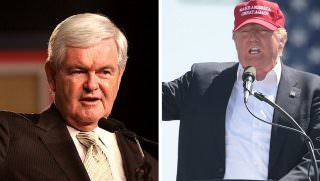 trump and gingrich