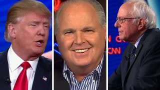 trump and rush and bernie