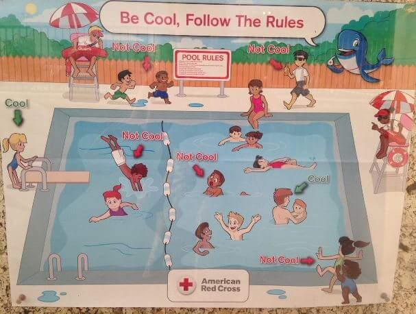 American Red Cross pool poster. Image Credit: Screenshot.