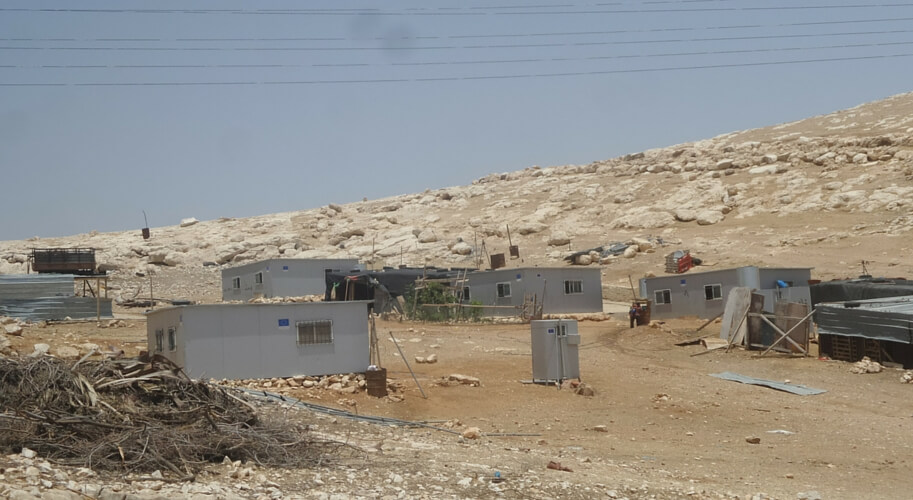 Illegal EU settlement in the Judean Desert near Ma'aleh Adumim. Credit: Yochanan Visser