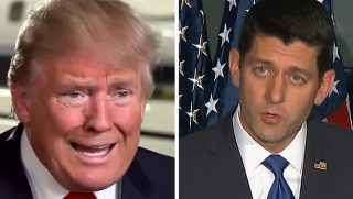 d trump and p ryan