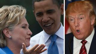 hillary obama and trump
