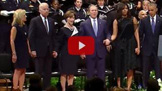 Bush dances in Dallas