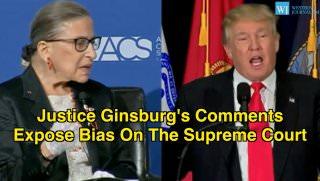 Ruth Bader Ginsburg, Donald Trump