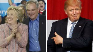 clinton kaine and trump