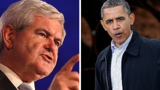 newt and obama