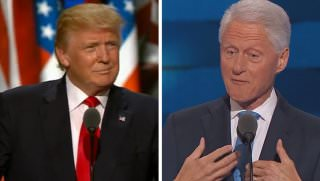 trump and bill clinton