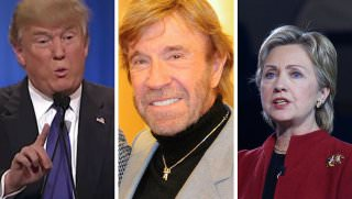 trump hillary and chuck norris