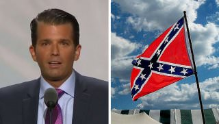 trump jr and confederate flag