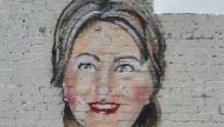 hillary mural