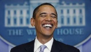 obama laugh
