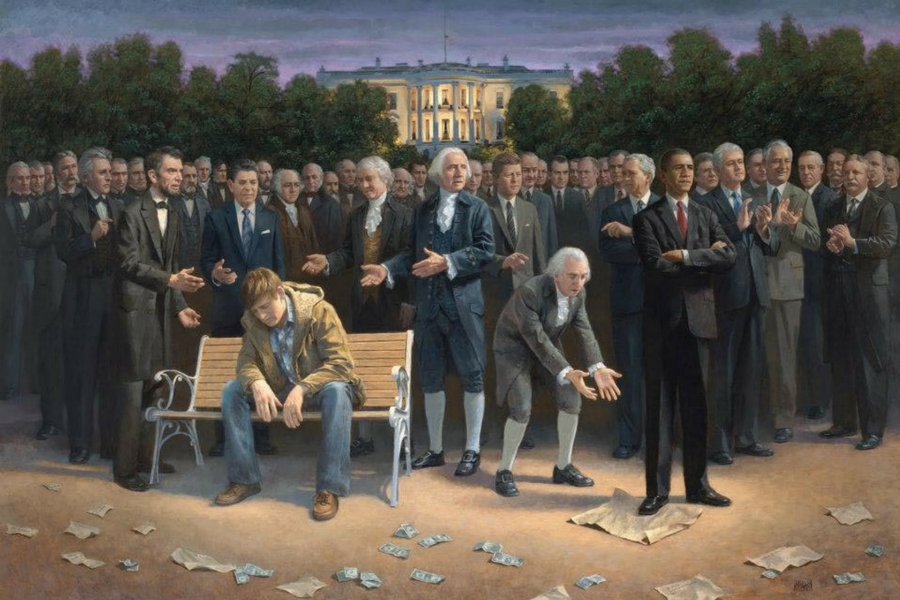 """The Forgotten Man"" by Jon McNaughton"