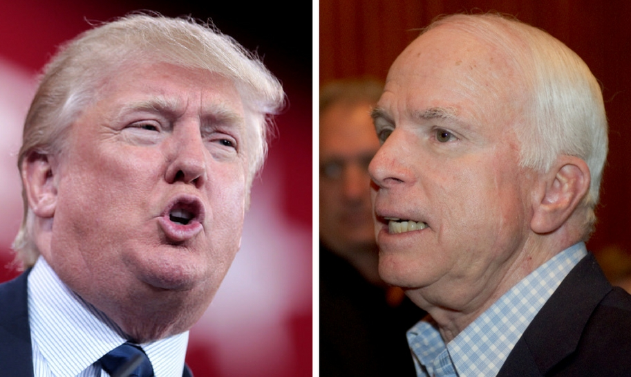 trump slams mccain criticizing yemen raid