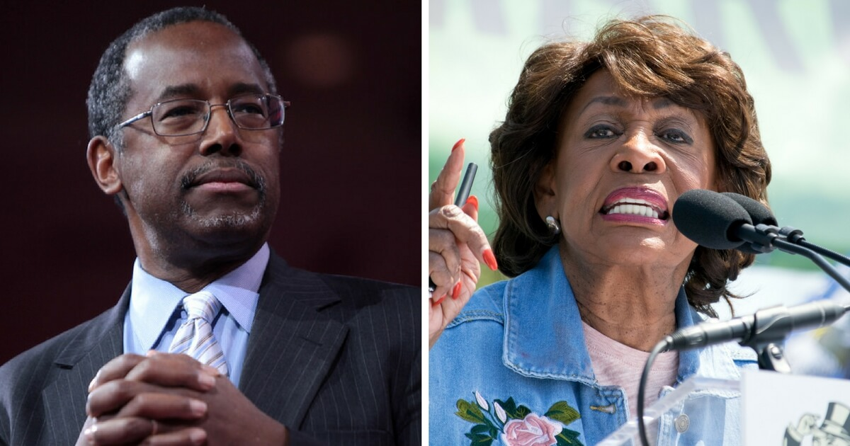 Maxine Waters Accuses Ben Carson Of Being 'White-Wing Nationalist,' Issues Bizarre Threat