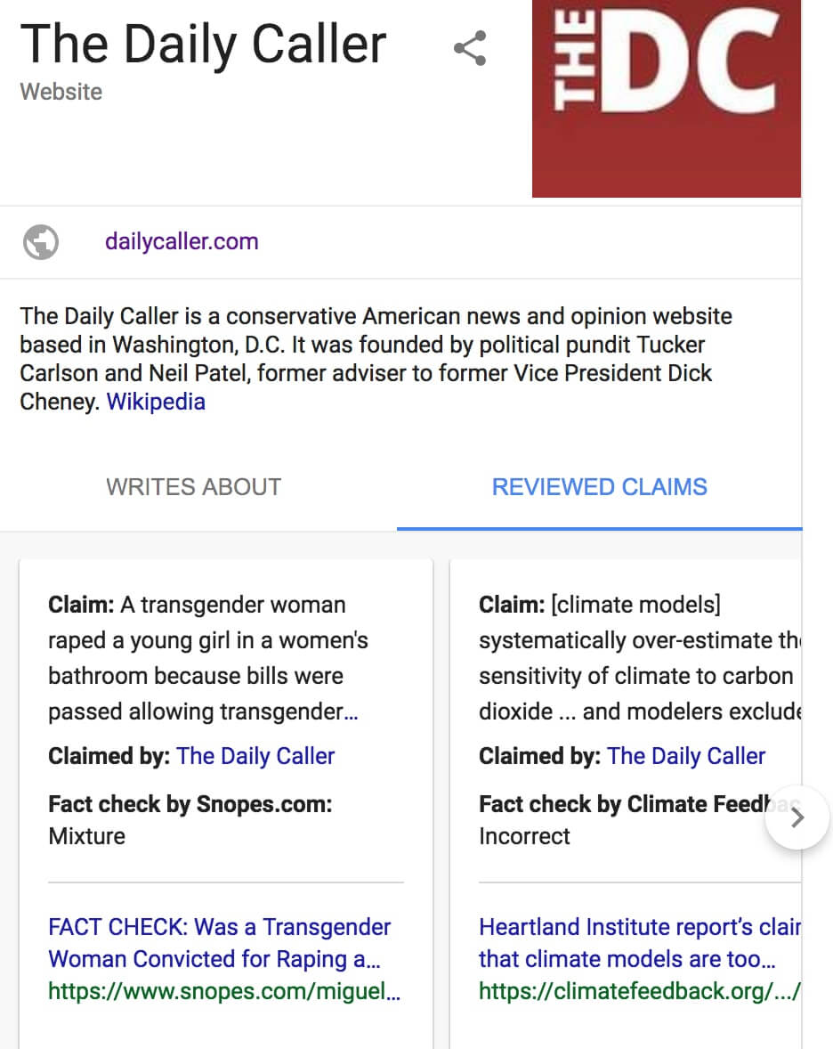 Google conservative news