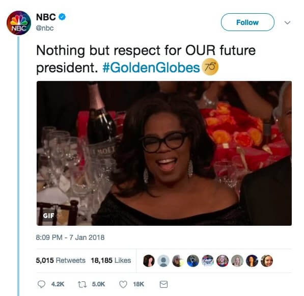 NBC Oprah tweet
