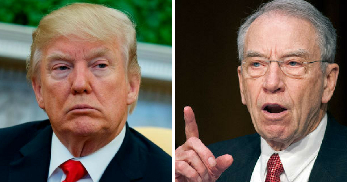 Grassley: Fusion GPS Founder Gave 'Extremely Misleading