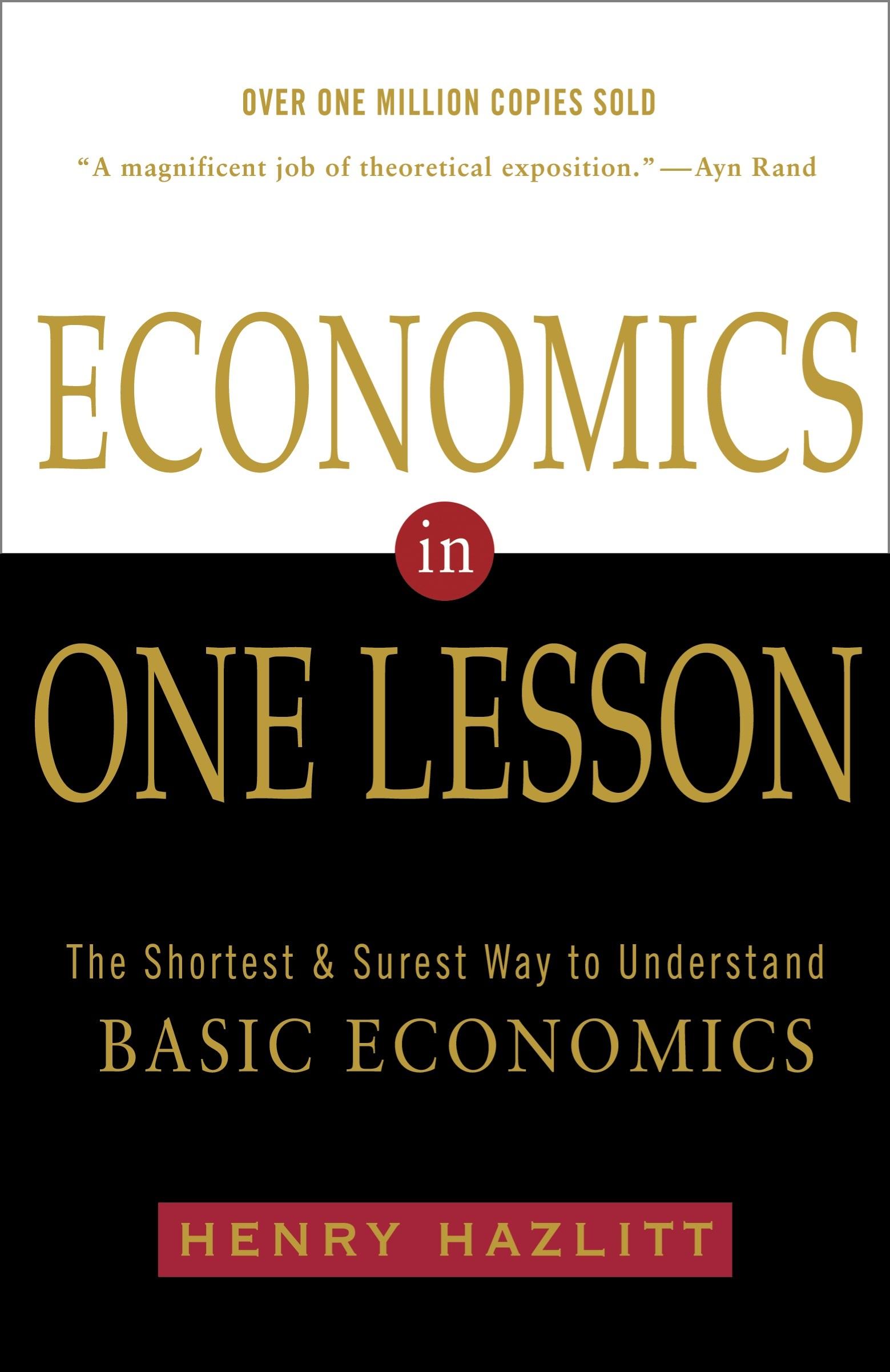 Economics in One Lesson Book Cover