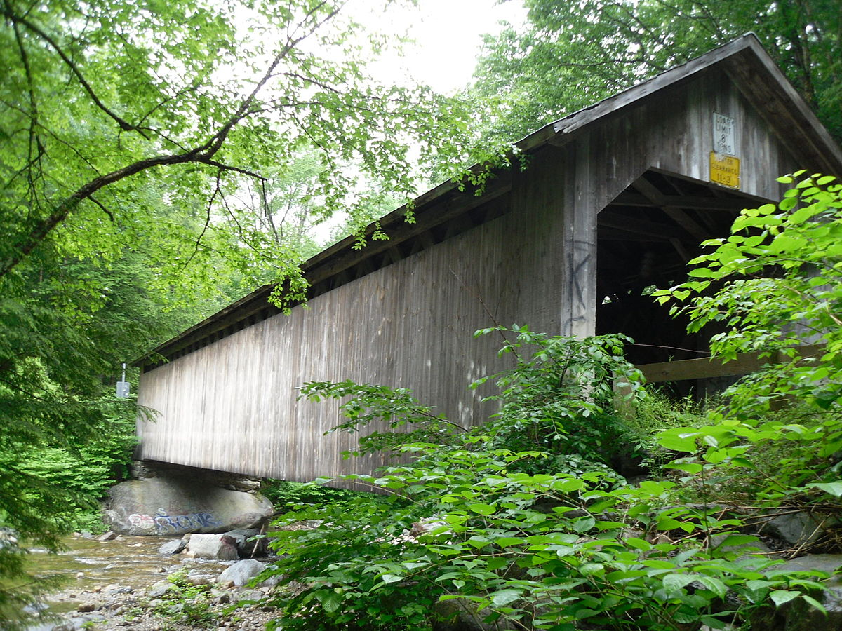 Brown covered bridge, vermont, top historical places to visit by state,