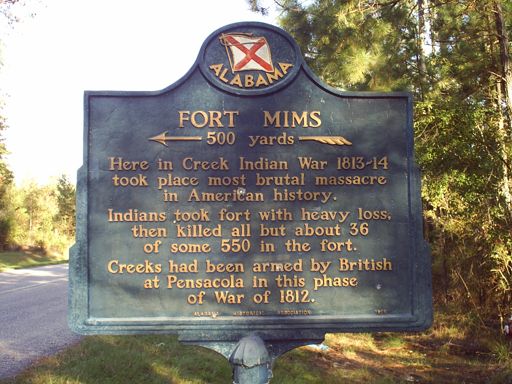 top historical places to visit by state, Alabama, Fort Mims,