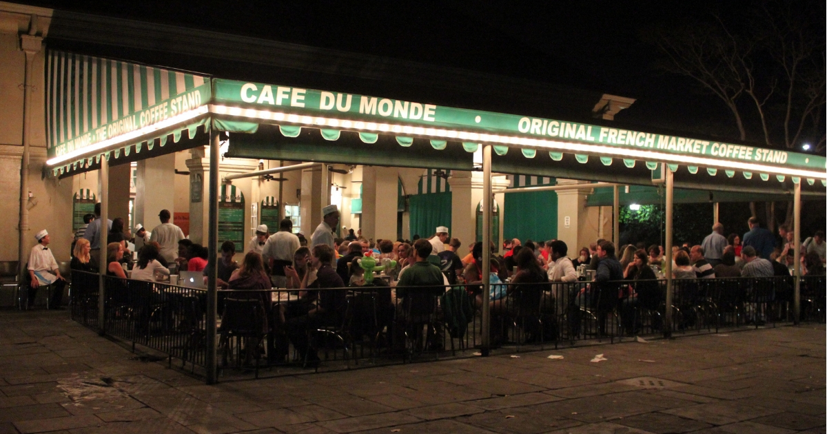 Cafe Du Monde in New Orleans' French Quarter.