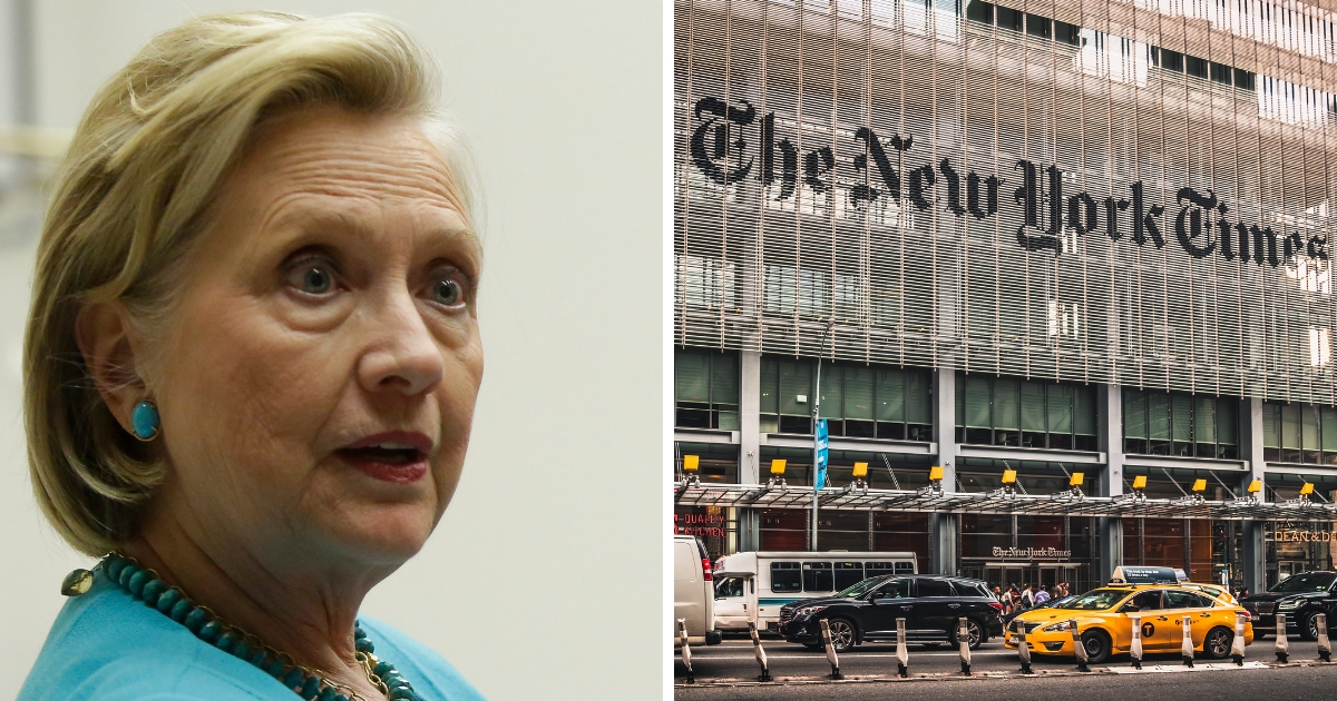 NYT Board Member Turns on Hillary, Tells Her To Be Quiet, Get Off Campaign Trail