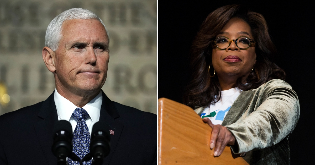 Mike Pence Tells Oprah 'This Ain't Hollywood' as They Support Dueling Candidates