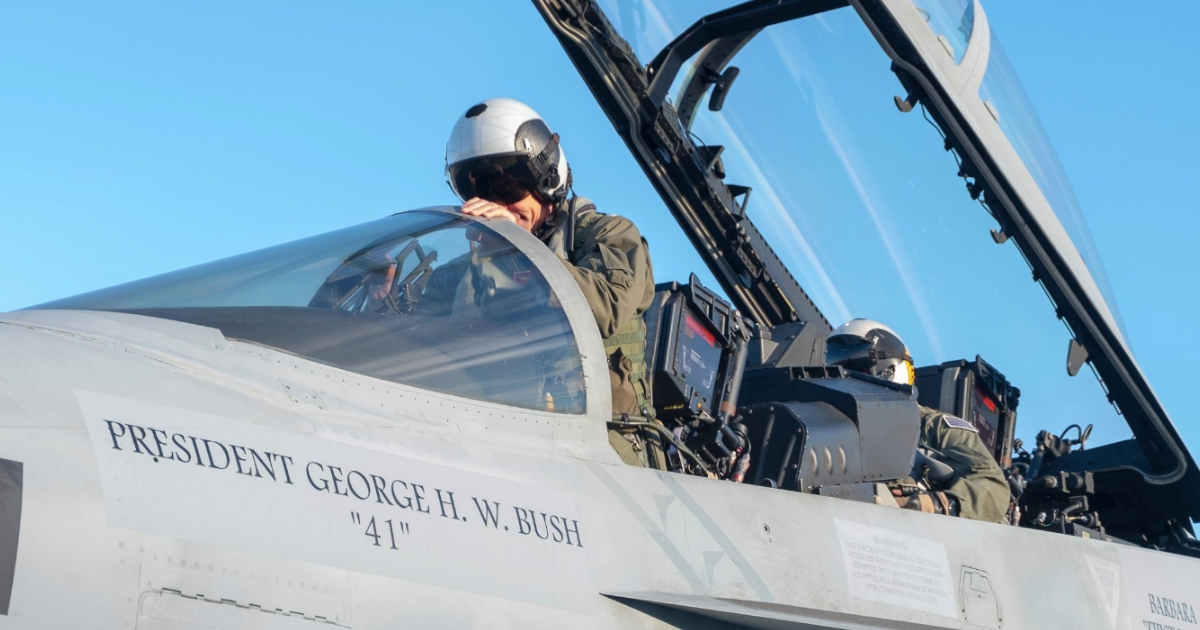US Navy Honors Bush with Largest Fighter Formation of Its Type in History