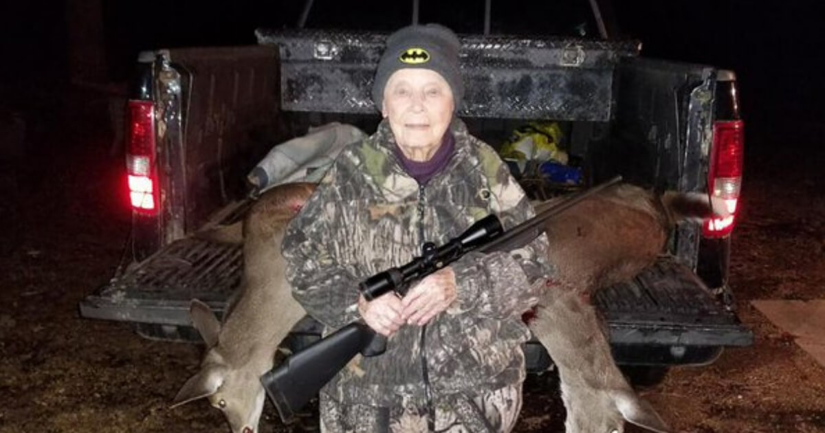 101-Year-Old Hunting Grandma Drops Two Deer with One Miracle Shot