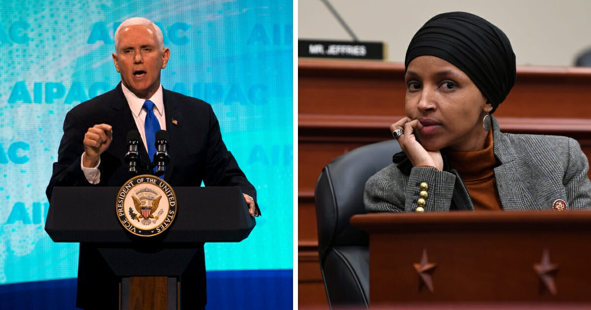 Pence Slams Ilhan Omar, Calls for Her Removal from House Committee