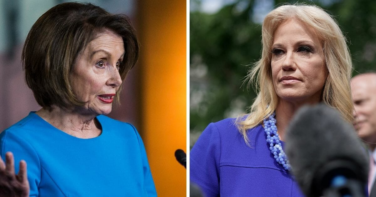 Nancy Pelosi and Kellyanne Conway Had Tense Moment After Trump Cut Meeting Short