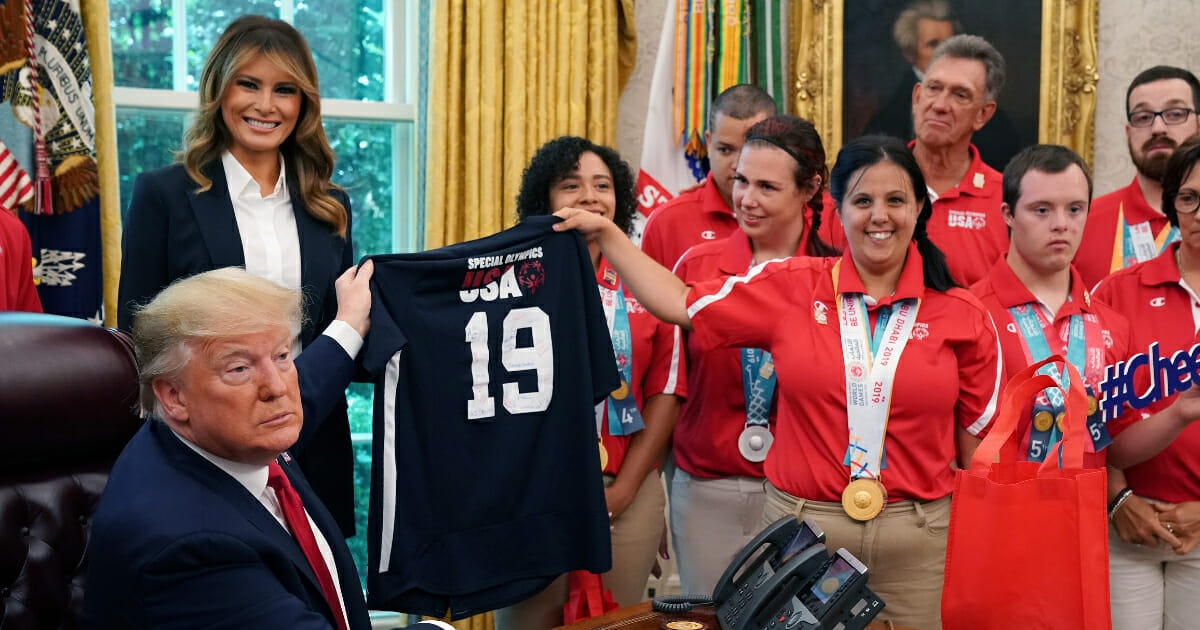 Trump Shares Touching Moment with Special Olympics Athlete Whose Parents Died