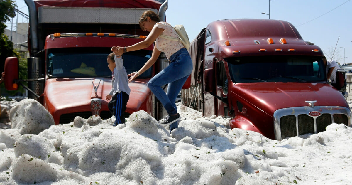 Video: Guadalajara Hit with 5 Feet of Hail, Global Warming Crowd Says Freezing Precipitation Proves They're Right
