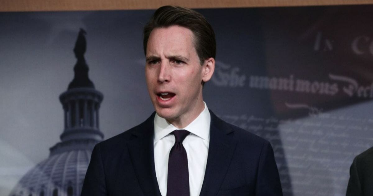 Sen. Josh Hawley: Big Tech Thrives on Taking and Selling Private Data Without Permission