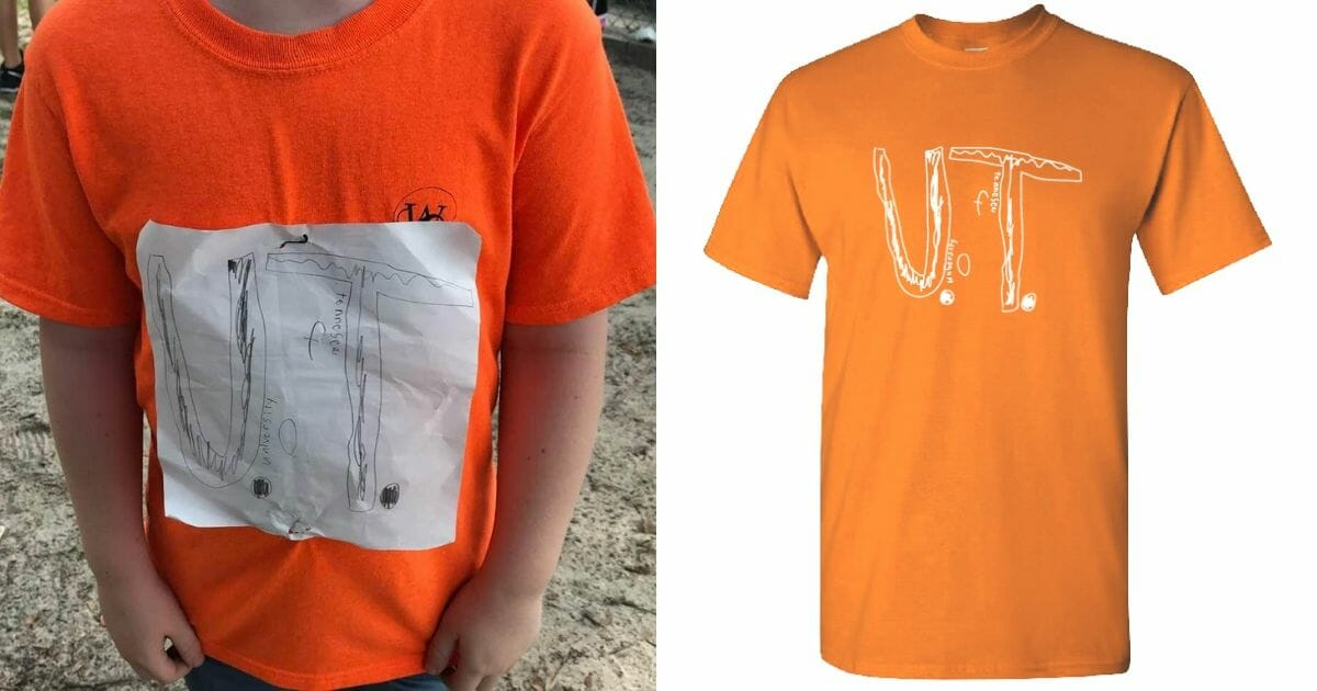 Young Boy Bullied for Homemade University of Tennessee Shirt Inspires New Shirt Design