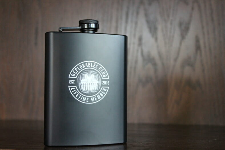 Deplorable Club Flask