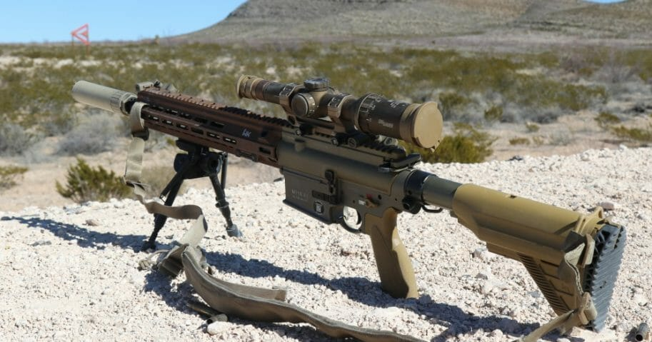 The M110 rifle, seen being tested at Ft. Bliss, Texas.