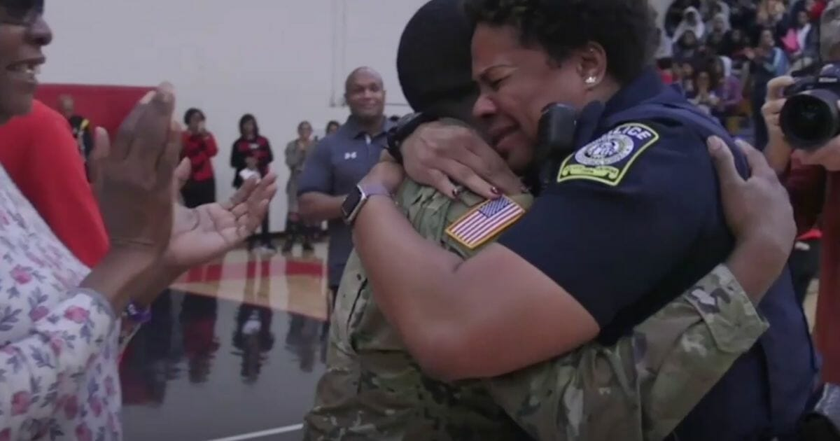 After Two-Year Deployment, Army Soldier Surprises Mother at Work, Leaving Mom Crying Tears of Joy
