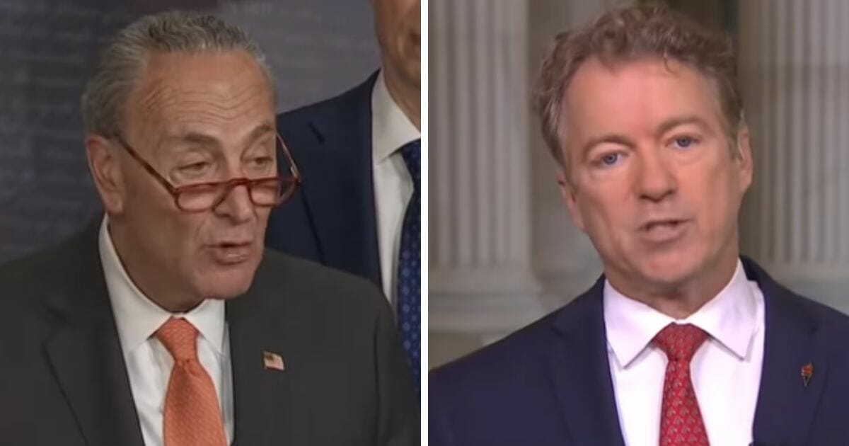 Fiery Rand Paul Blisters Schumer's 'Scurrilous' Remarks in Real Time, Says Trump Should Sue for Defamation