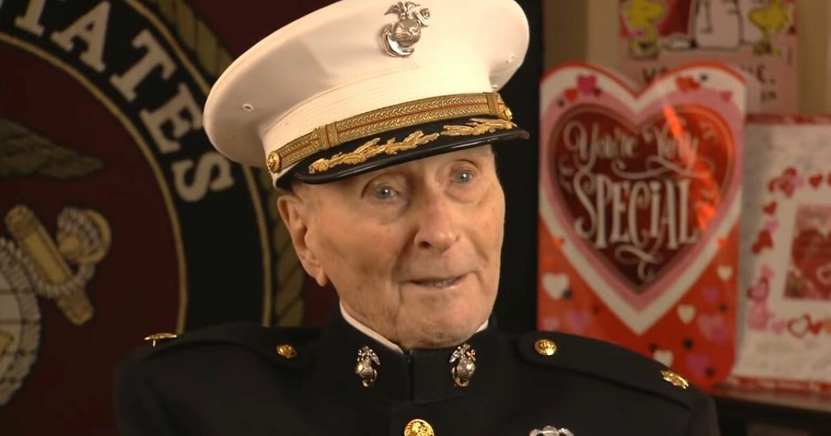 104-Year-Old Marine Who Never Celebrated Valentine's Day Receives 140,000 Letters from Around Globe