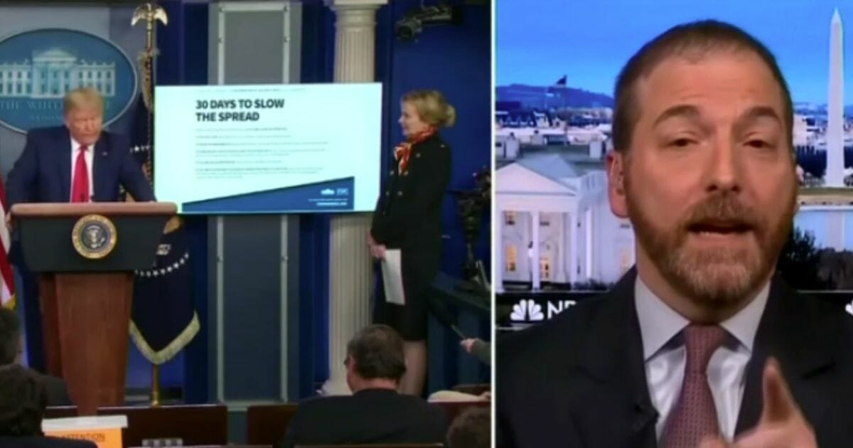 Chuck Todd's Outrageous Disclaimer Before Trump's COVID Briefing Flushes Media's Last Shred of Credibility