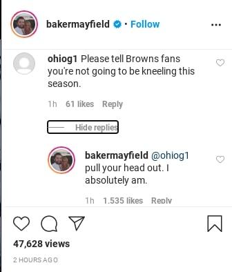 Baker Mayfield screen shot