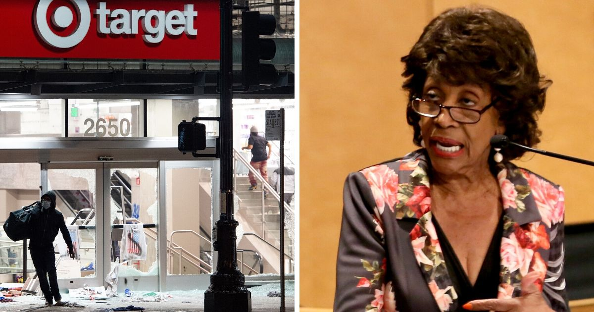 Maxine Waters Scorched After Claiming the Real 'Looting' Is 'Predatory Lending'