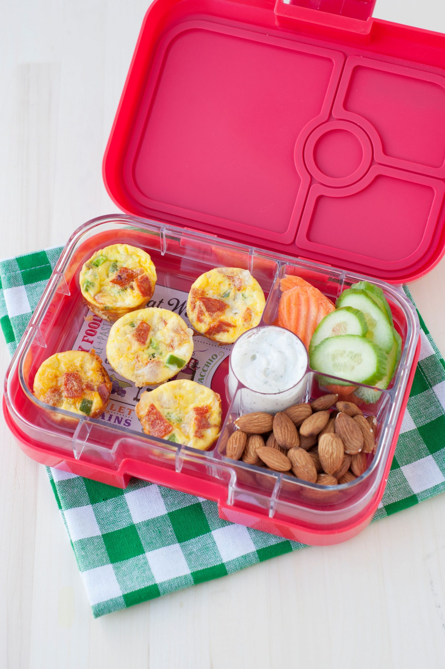 easy back to school lunch: mini pizza quiche