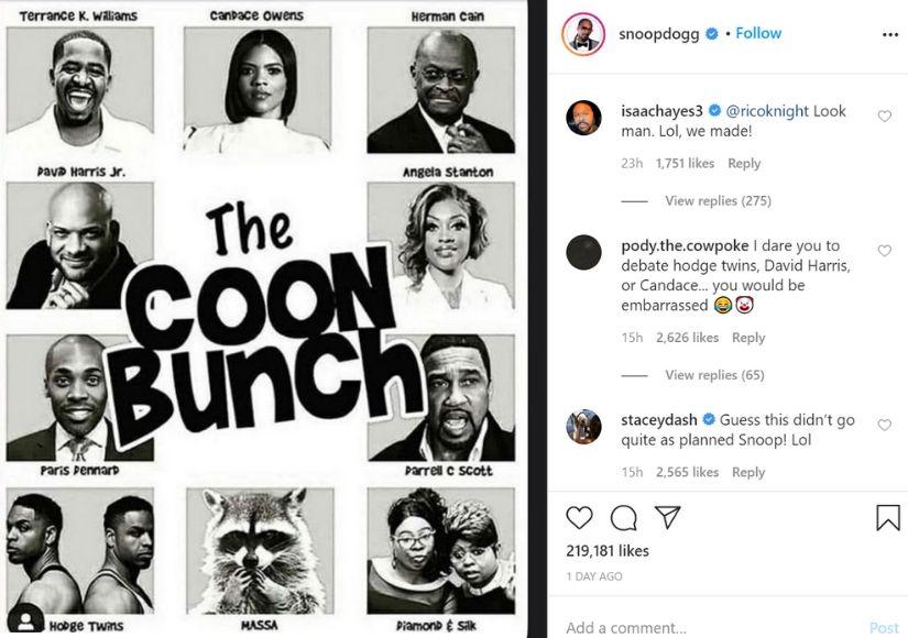 Snoop Dogg Instagram post